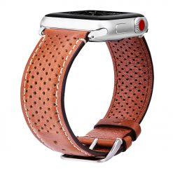Vivez - Ægte læder rem til Apple watch 42mm - Brun