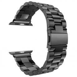 Alza - Rem för Apple watch i rostfritt stål 42/44mm - Svart