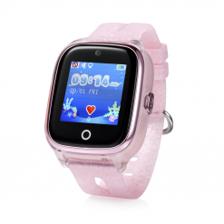 KT01 - Vandtæt GPS ur til børn med 2MP kamera - Lyserød