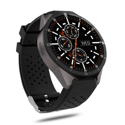 KW88 PRO - Android 7.0 GPS smartwatch - Svart