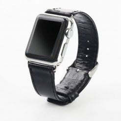 Acuda - Retro läderrem för Apple Watch 38/40 mm - Svart