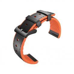 Ruer - Hybrid läderrem för TicWatch Pro - Orange