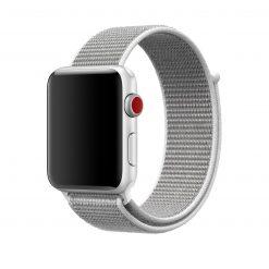 Nylonrem till Apple Watch 42/44 Mm - Grå/Vit
