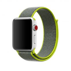 Apple Watch Nylon Rem 42/44 Mm - Grå /Grön