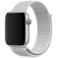 Nylon rem till Apple Watch 42/44 mm - Silver