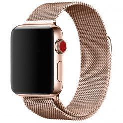 Melanise - Rostfritt stål Rem för Apple klocka - Rosa guld 42/44