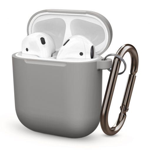 Skal till Apple AirPods i silikon - Mörkgrå