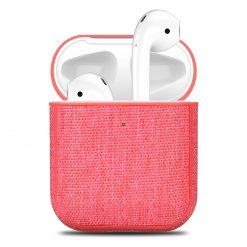 Skal till Apple AirPods textilbeklätt - Rosa