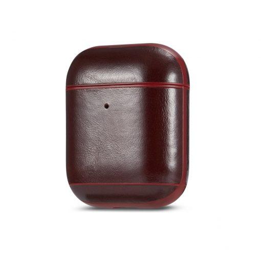 Skal till Apple AirPod läder- rött