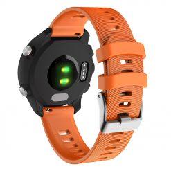 Garmin Forerunner 645 - Silikonrem med spår - Orange
