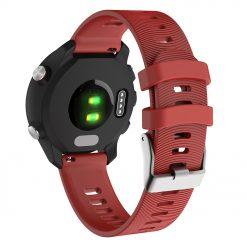 Garmin Forerunner 645 - Silikonrem med spår - Röd