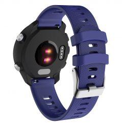 Garmin Forerunner 645 - Silikonrem med spår - Mörkblå