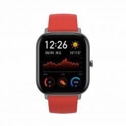 Amazfit - GTS Obsidian Smartwatch - Vermillion Orange