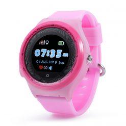 KT06- Vattentät GPS-klocka för barn Rund pekskärm - Rosa