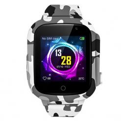 Camo light - Barn GPS-klocka med kamera - Grå / Vit