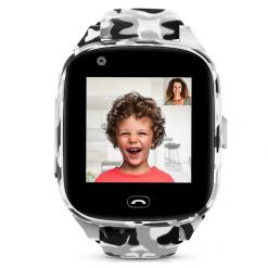 Camo Pro - 4G barns GPS-klocka med videosamtal - Grå/vit