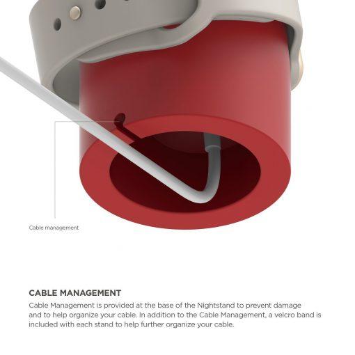 Mini laddningshållare för Apple watch - Röd