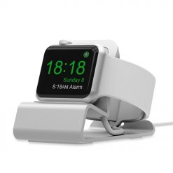 Mini Alu Laddningshållare för Apple Watch - Silver