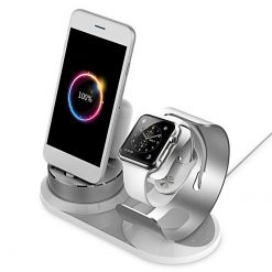 Laddningsdocka Apple watch, Airpod & Iphone - Alu