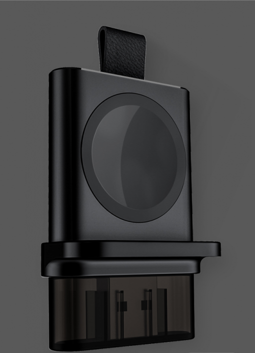 Bärbar magnetisk USB-laddningsdocka för Apple Watch- Svart