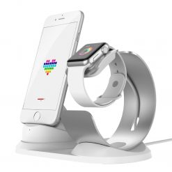 Laddningsdocka Apple watch & Iphone - Grå