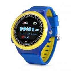 KT06- Vattentät GPS-klocka för Barn rund pekskärm - Blå /gul