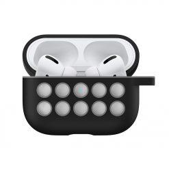 Silikonskal till Apple AirPods Pro - Svart / Grå med krok