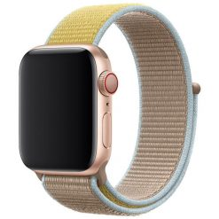 Tvåfärgad - Nylonrem för Apple Watch 42/44 mm - Sand