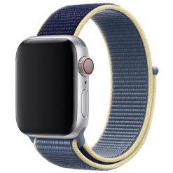 Tvåfärgad - Nylonrem för Apple Watch 42/44 mm - Ljusblå