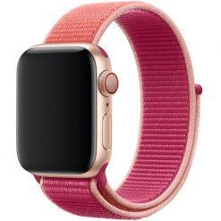 Tvåfärgad - Nylonrem för Apple Watch 42/44 mm - Rosfärgad