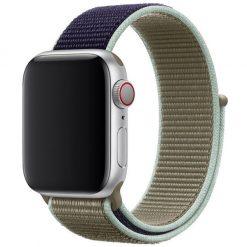 Dubbel färg - Nylonrem för Apple Watch 42/44 mm - Rök