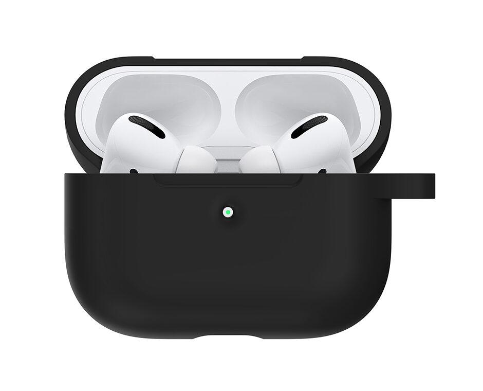 Silikonskal till Apple AirPods Pro - Svart med krok