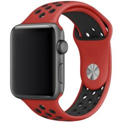 Sport silikonrem för Apple Watch 38/40 mm - Röd/Svart