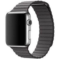 Läder loop -Apple Watch Läderrem- 38/40 mm - Grå