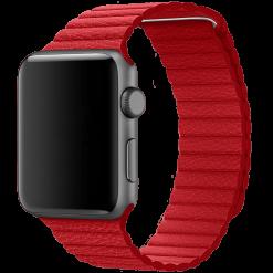 Läder loop -Apple Watch Läderrem- 38/40 mm - Röd