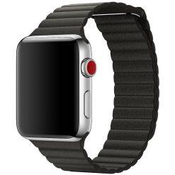 Läderloop -Apple Watch läderrem- 42/44 mm - Svart