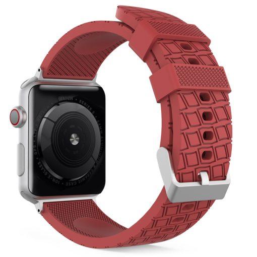Motiv - Silikon för rem för Apple Watch 38/40 mm - Röd