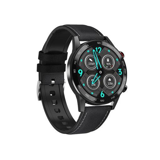 DT95 - Elegant Herr Sportswatch med BT samtal - Svart silikon