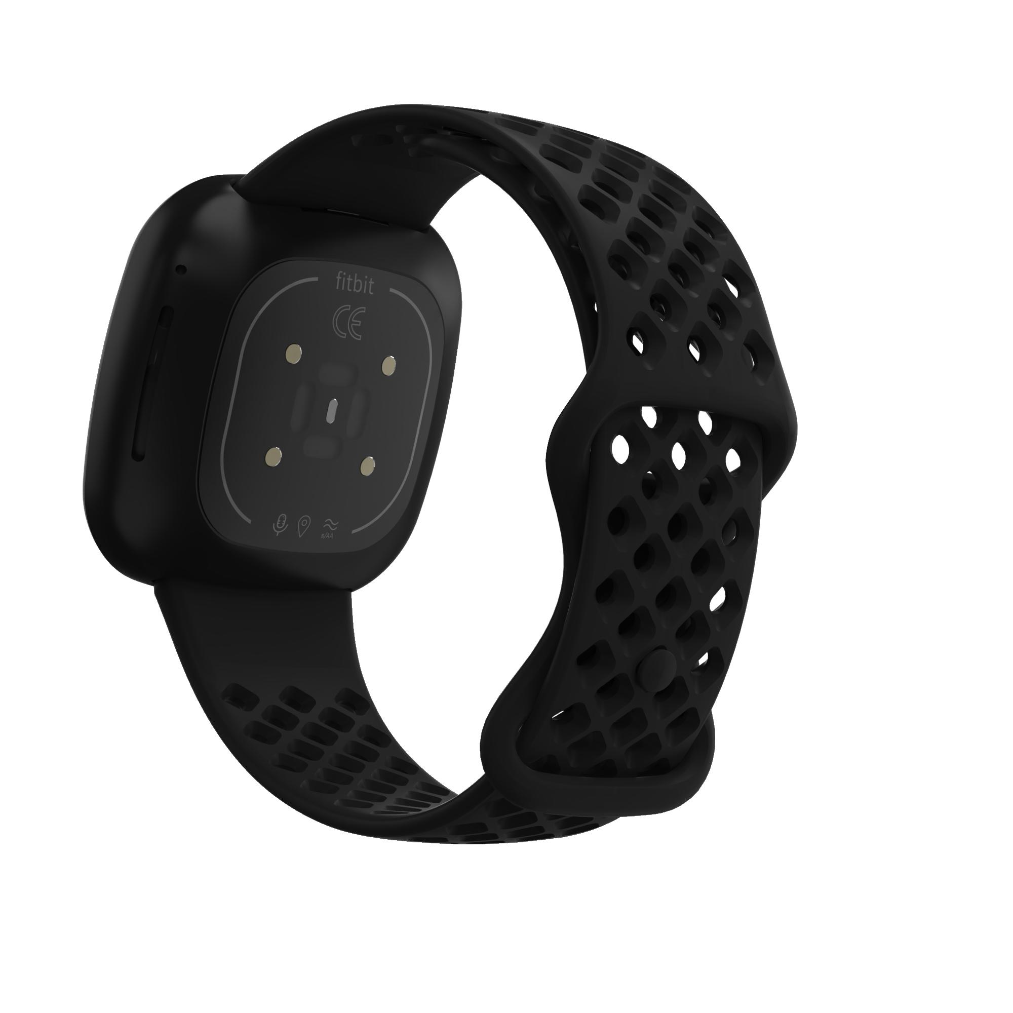 Sport - Silikonrem för Fitbit Versa 3 / Sense- Svart