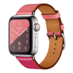 Blend - Två färgat äkta läder för Apple Watch 38/40 mm - Rosa/Ros