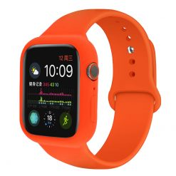 Rem med silikonfodral för Apple watch 38/40 mm - Orange