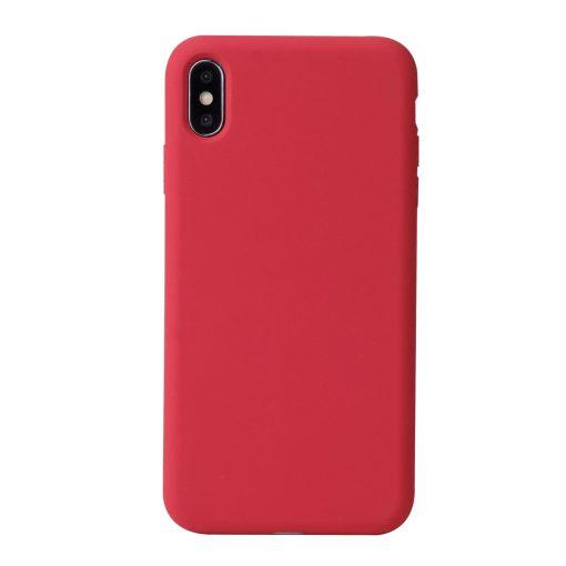 Silikonskal för iPhone X - Camellia rött