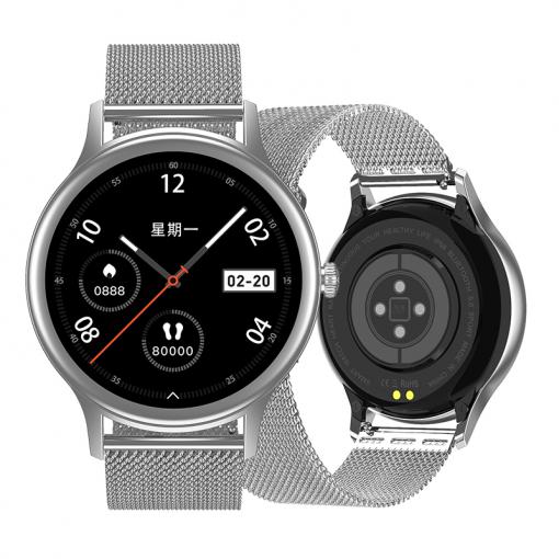 DT66 - Estetisk och lätt smartwatch för kvinnor - Silver