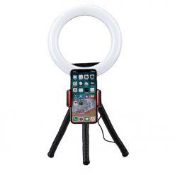 Fotopro - L3 ringljussats inklusive mobilhållare med kulled och flexibelt stativ