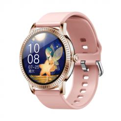 CF18 PRO - Full Touch Smartwatch för kvinnor - Silikon rosfärgad