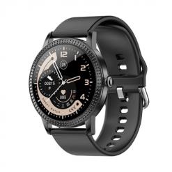 CF18 PRO - Full Touch Smartwatch för kvinnor - Silikon svart