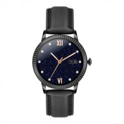 CF18 PRO - Full touch Läder Smartwatch för kvinnor - Svart