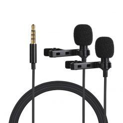 Dubbel slipsmikrofon för 3.5mm uttag