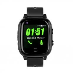 H10 - 4G GPS-klocka för äldre med pekskärm - Svart
