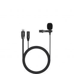 Slipsmikrofon med lightning och 3,5 mm jack-ingång